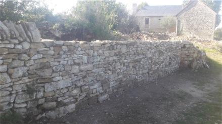 Remise en état d'un mur de soutènement - Malefon - Cazillac (46)