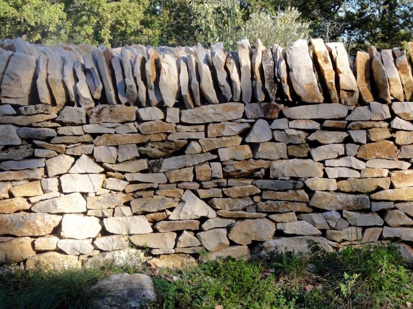 Création d'un mur de clôture sur la commune de Cuzance (46)